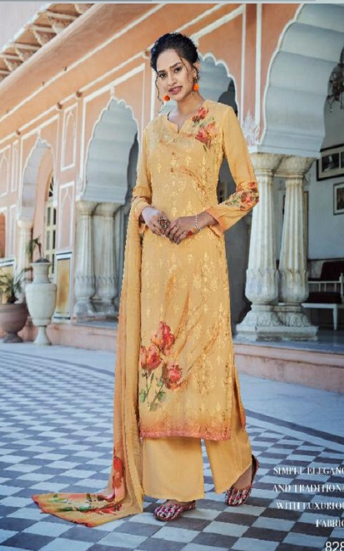 Jinaam Presents Rythm Digital Printed Modal Embroidered With Sequins Work Suits 8283
