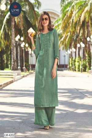 LYMI Presents Boundary Lichee Rayon With Embroidery Summer Palazzo Suit Collection LM-4202