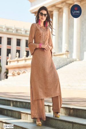 LYMI Presents Boundary Lichee Rayon With Embroidery Summer Palazzo Suit Collection LM-4204