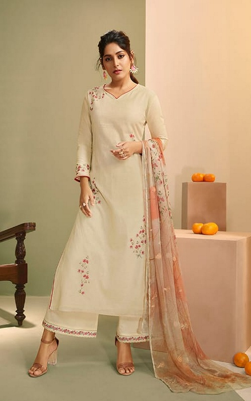 Omtex Presents Vaidi Royal Linen With Handwork Unstitched Suit For women 1152
