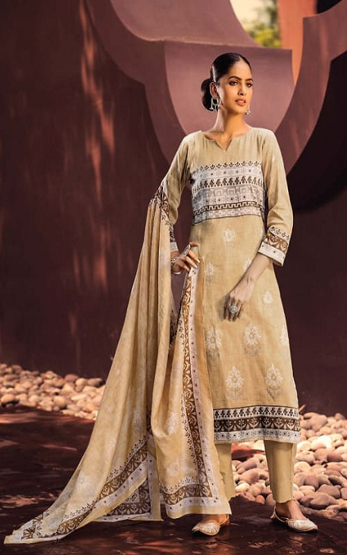Rivaa Presents Junoon Cotton Satin Print Unstitched Ladies Salwar Suit 3501 A