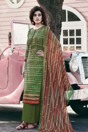 Rupali Fashion Presents Yashica Heavy Jam Satin Print Designer Suit 2005