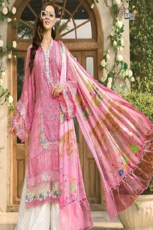 Shree Fabs Maria B Lawn Super Hit Pure Cotton Print With Heavy Embroidery Salwar Suit 1258