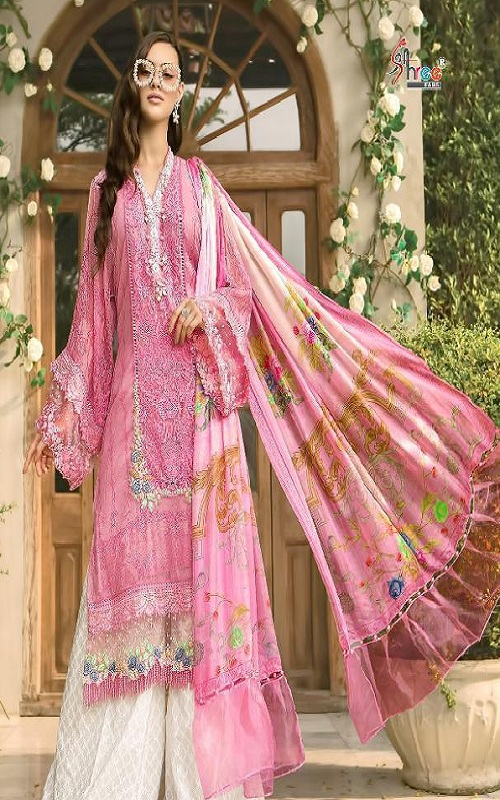 Shree Fabs Maria B Lawn Super Hit Pure Cotton Print With Heavy Embroidery Salwar Suit 1254