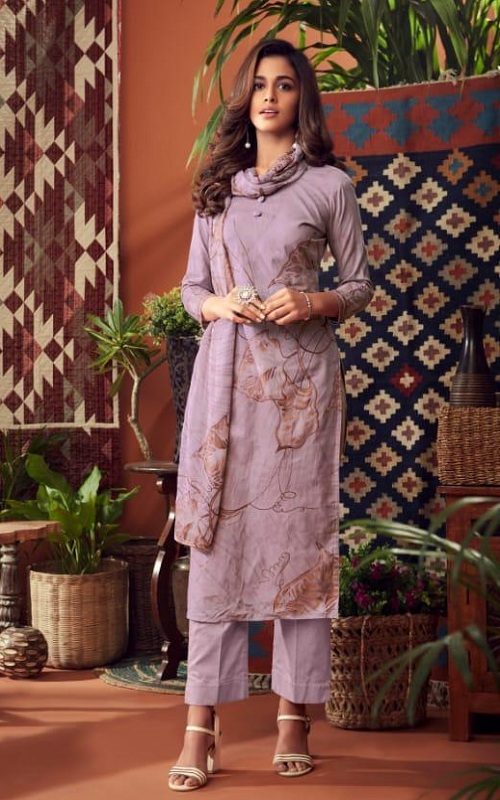 Siyoni Designer Presents Simon Cambric Cotton Digital Style Printed Suit 901