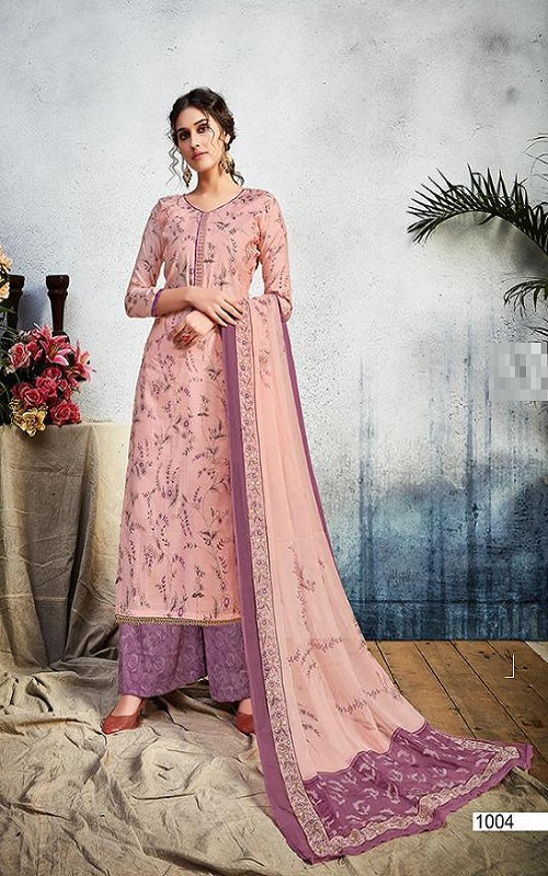 Supriya Fashion Presents Saima Silk 3 Cotton Silk Foil Printed Salwar Suit 1004