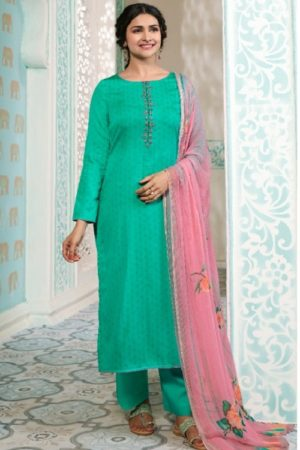 Vinay Fashion Presents Kervin Aarushi Premium Cotton Satin Thread Embroidery With Digital Print Salwar Suit 13113