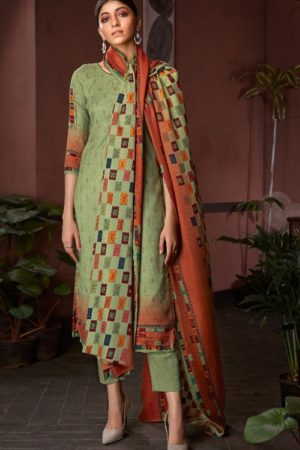 AT Presents Afra Pure Pashmina Designer Printed Salwar Suit 20002