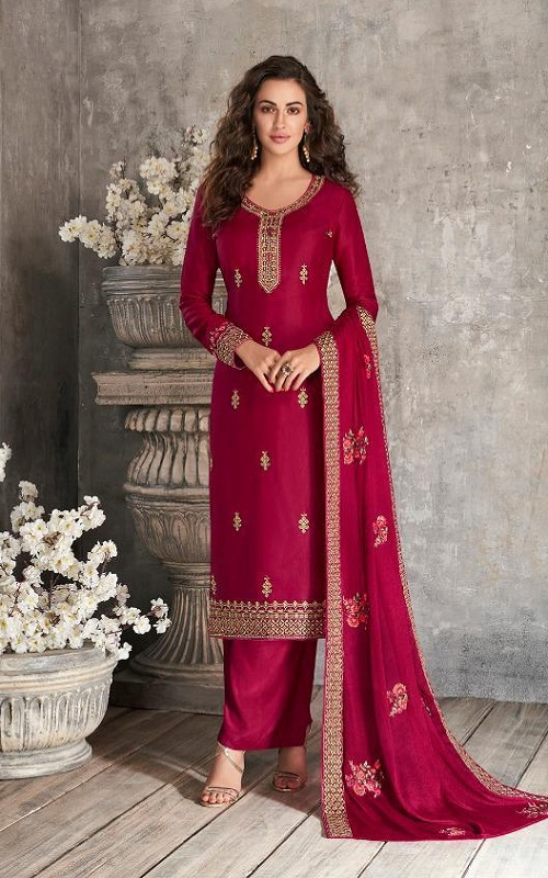 Aashirwad Creation Presents Haseena Premium Tussar Silk with Embroidery Designer Suit 7166