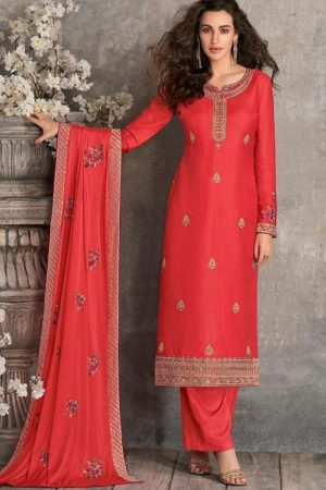 Aashirwad Creation Presents Haseena Premium Tussar Silk with Embroidery Designer Suit 7171