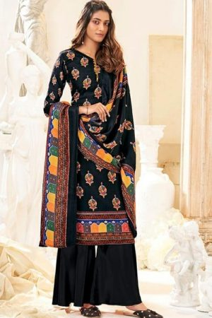 Belliza Designer Studio Presents Al'marina Pure Pashmina Printed Salwar Suits 454-003