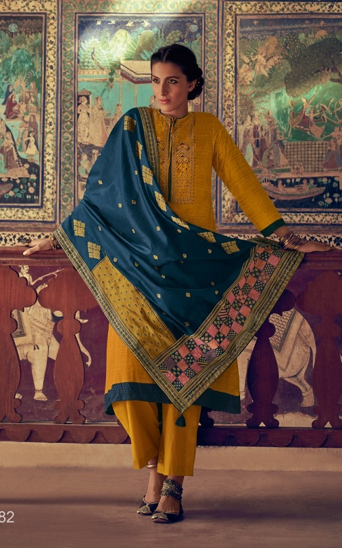 Buy Varsha Fashion The Handloom Tales 5 Pashmina with Embroidery Salwar Suit HT-82