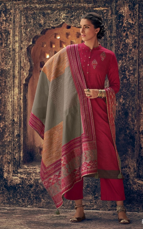 Buy Varsha Fashion The Handloom Tales 5 Pashmina with Embroidery Salwar Suit HT-86