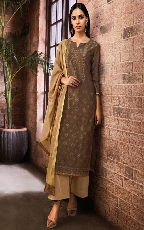 Ganga Fashion Presents Alisa Pure Kora Silk Printed Salwar Suit C0113