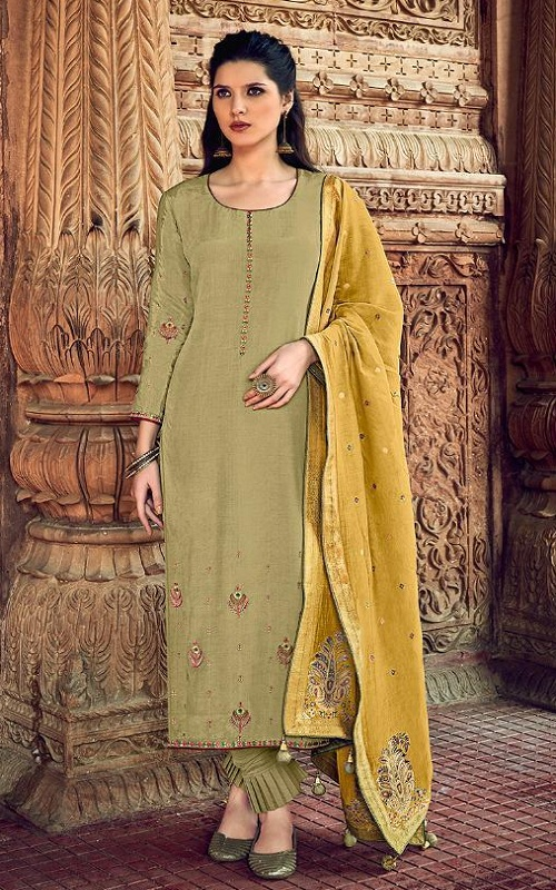 Ibiza Presents Meenakari Pure Muslin with Fancy Designer Work Salwar Suit 591