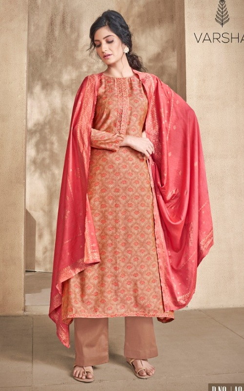 Varsha Fashion Presents Adrika Chanderi With Embroidery Salwar Suit AD-01 (RED)