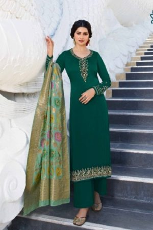 Vinay Fashion Presents Kaseesh Banaras 6 Satin Georgette with Embroidery and work Partywear Suit 12844