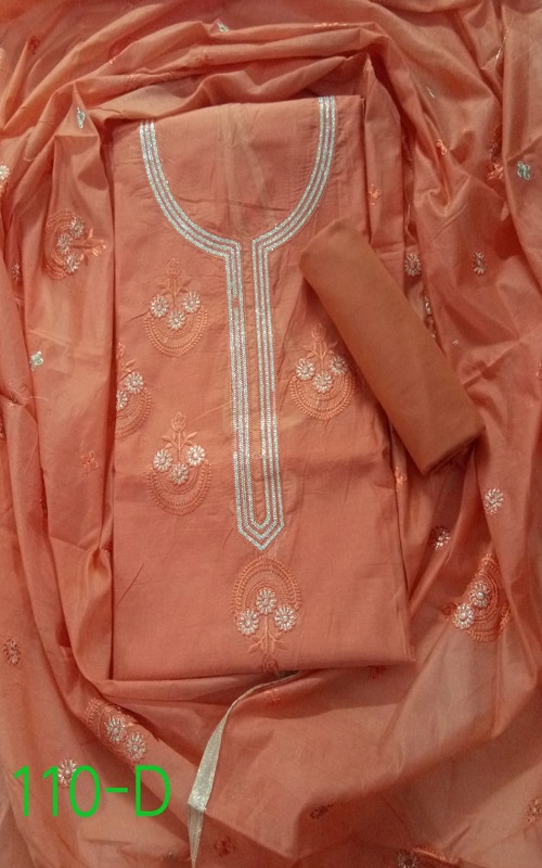 AGOG Non Catalog 110 Modal SIlk With Embroidery Suits 110-D