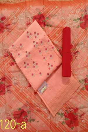 AGOG Non Catalog 120 Chanderi Cotton Masleen Silk With Embroidery Suits 120-A