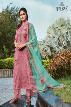 AGOG Relssa Sajjan Shine Pure Pashmina Digital Print With Embroidery Suit 61004