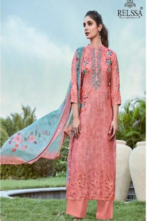 AGOG Relssa Sajjan Shine Pure Pashmina Digital Print With Embroidery Suit 61006