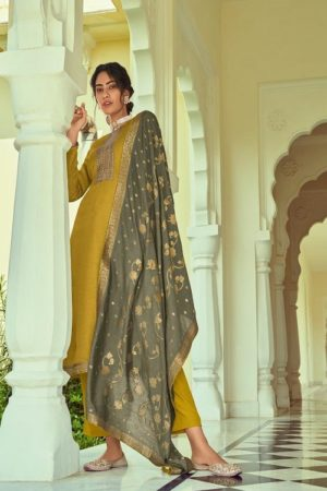 Deepsy Suits Monalisa Self Woven Pashmina With Self Embroidery Suits 81001