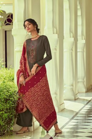Deepsy Suits Monalisa Self Woven Pashmina With Self Embroidery Suits 81002
