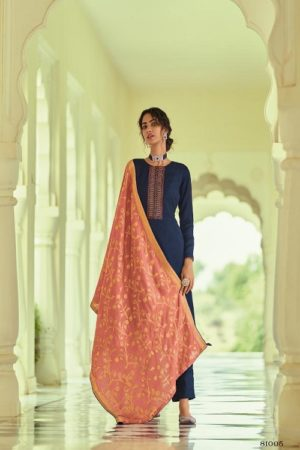 Deepsy Suits Monalisa Self Woven Pashmina With Self Embroidery Suitss 81005