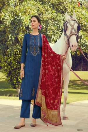 Deepsy Suits Panghat 10 Pure Pashmina Print With Heavy Self Embroiery Suit 70005