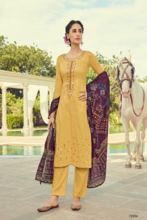 Deepsy Suits Panghat 10 Pure Pashmina Print With Heavy Self Embroiery Suit 70006