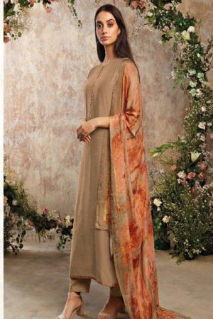 Ganga Fashion Sava Avyanna Silk Wool Diamond Dobby Dyed Suits 1192