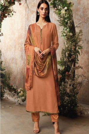 Ganga Fashion Sava Avyanna Silk Wool Diamond Dobby Dyed Suits 1194