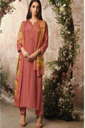 Ganga Fashion Sava Avyanna Silk Wool Diamond Dobby Dyed Suits 1195