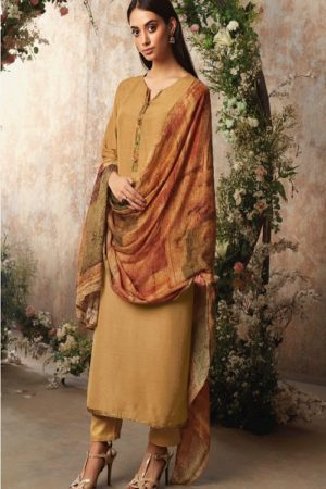Ganga Fashion Sava Avyanna Silk Wool Diamond Dobby Dyed Suits 1196
