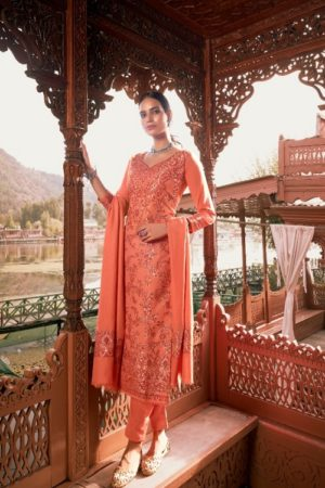 IBIZA Anaya Pure Handloom Weaving Pashmina Designer Handloom With Jacquard weaving Designs suits 706