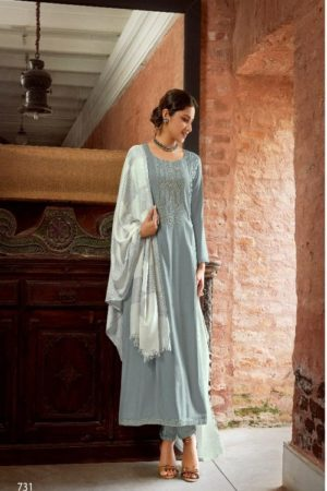 IBIZA Glamour IBIZA Pure Pashmina With Embroidery Suits 731