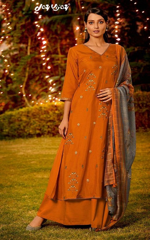 Jay Vijay Naayab 2 Summer Collection Pure Bemberg Silk With Embroidery and Handwork Salwar Suit 2203