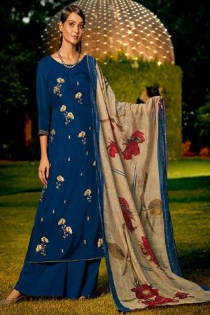 Jay Vijay Naayab 2 Summer Collection Pure Bemberg Silk With Embroidery and Handwork Salwar Suit 2206 - Copy