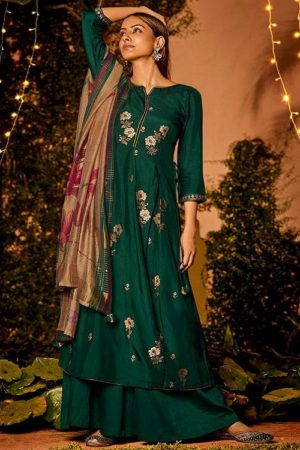 Jay Vijay Naayab 2 Summer Collection Pure Bemberg Silk With Embroidery and Handwork Salwar Suit 2207