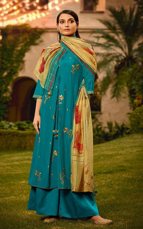 Jay Vijay Naayab 2 Summer Collection Pure Bemberg Silk With Embroidery and Handwork Salwar Suit 2208