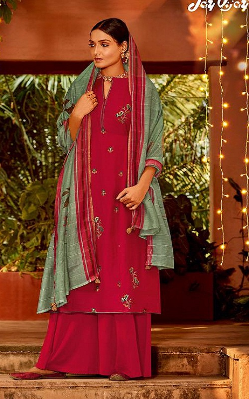 Jay Vijay Naayab 2 Summer Collection Pure Bemberg Silk With Embroidery and Handwork Salwar Suit 2210
