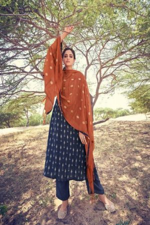 Jay Vijay Prints Rivayat Pashmina Digital Print With Embroidery Suit 5545