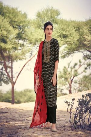 Jay Vijay Prints Rivayat Pashmina Digital Print With Embroidery Suits 5549