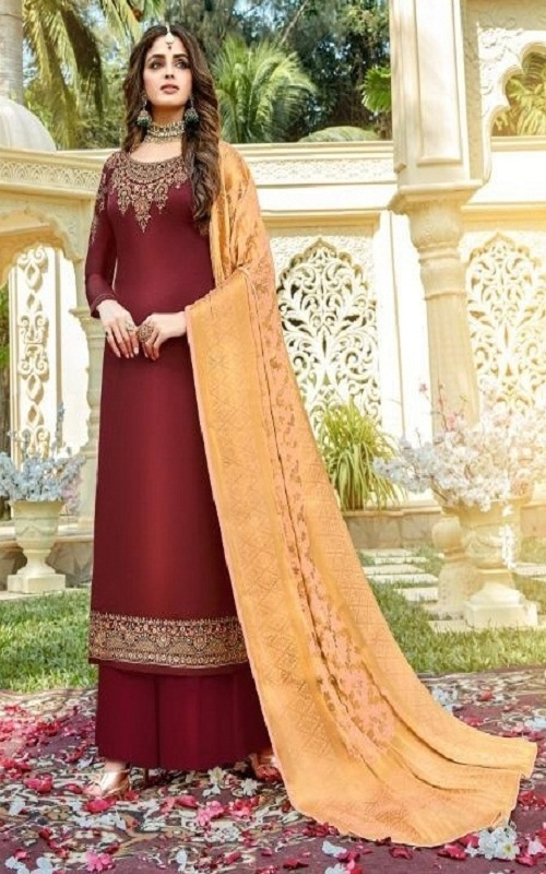 Rashi Prints Meera Summer Collection Satin Georgette With Heavy Embroidery Salwar Suit 421
