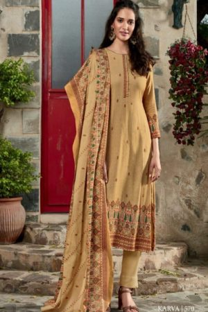 Sahiba TM Karva Pashmina WIth Digital Print Patti Suit 570