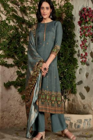 Sahiba TM Karva Pashmina WIth Digital Print Patti Suit 593