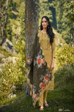 AGOG Sahiba TM Mitra Pashmina Digital Print With Embroidery Suit 489