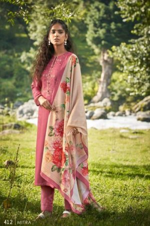 AGOG Sahiba TM Mitra Pashmina Digital Print With Embroidery Suits 412