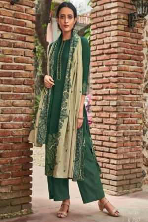 Sahiba TM Nitra Pashmina Print With Embroidery Suits 860