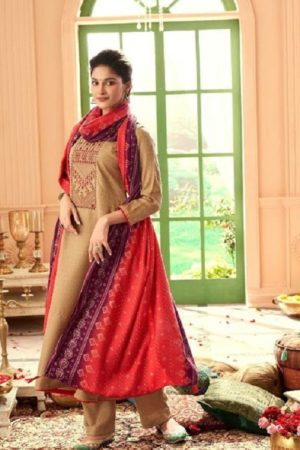 Vp Baandhani Winter Collection Pashmina Dobby Printed With Embroidery Salwar Suit 21006